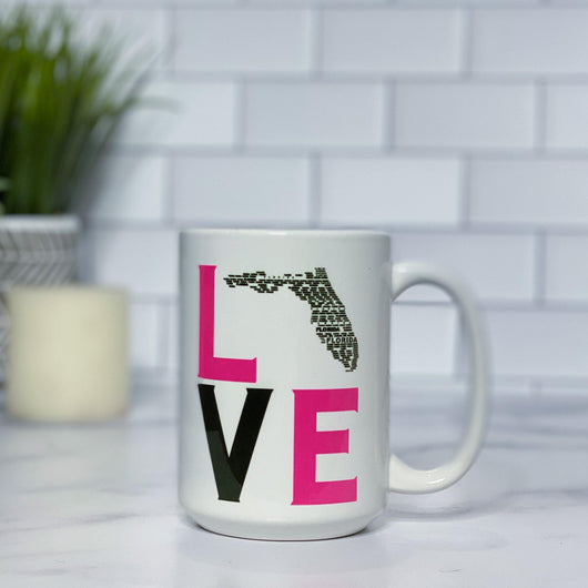 State LOVE and HOME Ceramic Tumbler