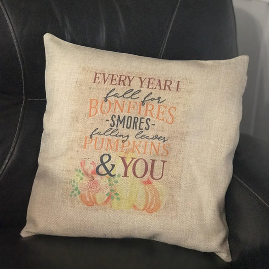 Every Fall Burlap Pillow Cover