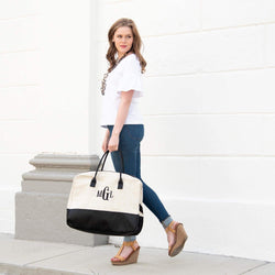 White Linen Duffel Bag