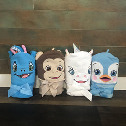 Cute Character Hooded Towels