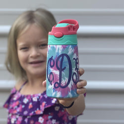 Tie-Dye Monogrammed Flip Top Bottle
