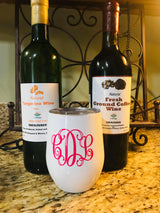 Custom 12 ounce wine glass