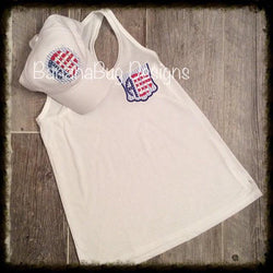 Red, White and Blue Patriotic Top
