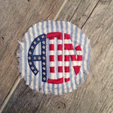 Stars and Bars Monogrammed Hat