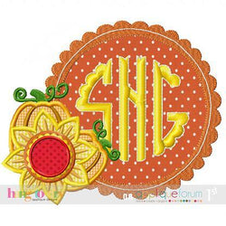 Sunflower Scalloped Monogram