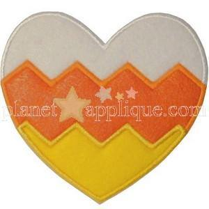 Candy Corn Chevron Heart