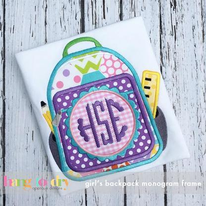 Girl Backpack Monogram