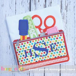 Pencil Pouch Monogram Frame
