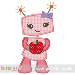 Robot Girl with Apple