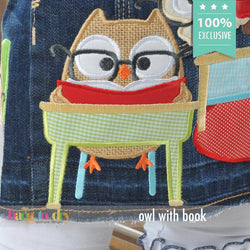 Owl with Book Personalized Tee