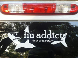 Fin Addicts Apparel Window Decal
