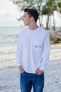 Fin Addicts Apparel long sleeve pocket tee