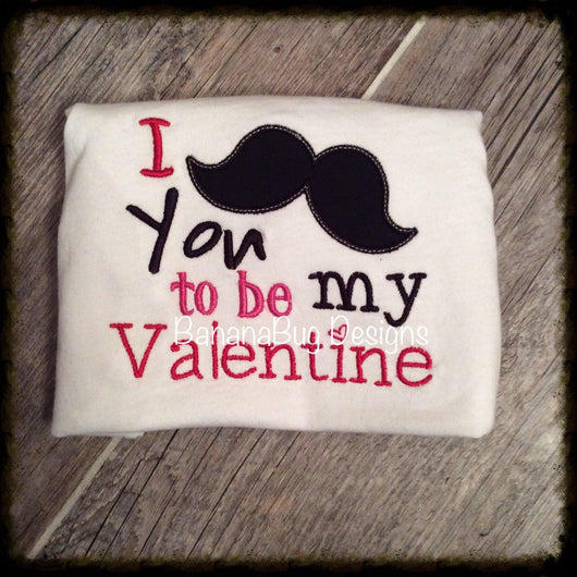 Mustache You to Be My Valentine