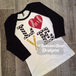 Custom Baseball raglan