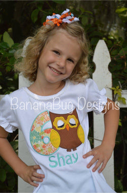Birthday Owl Shirt