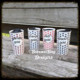 Monogrammed Ceramic Travel Tumbler