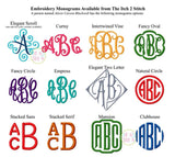 Monogrammed Basin Fleece