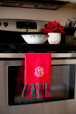 Monogrammed Fancy Kitchen Towels