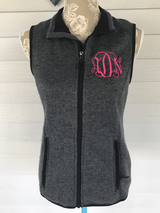 Monogrammed Pacific Heathered Vest
