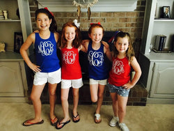 Monogrammed Fourth of July Tank