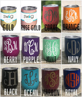 Monogrammed Swig Wine Glass with Lid