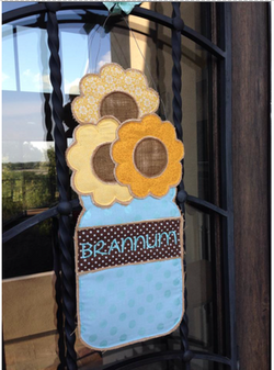 Sunflower Mason Jar Door Hanger