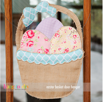 Easter Basket Door Hanger