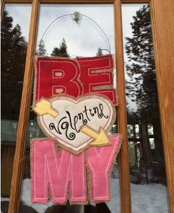 Be My Valentine Door Hanger