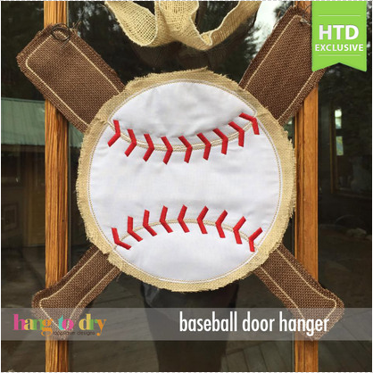 Baseball and Bats Door Hanger