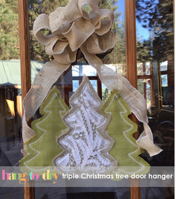 Christmas Trio Door Hanger