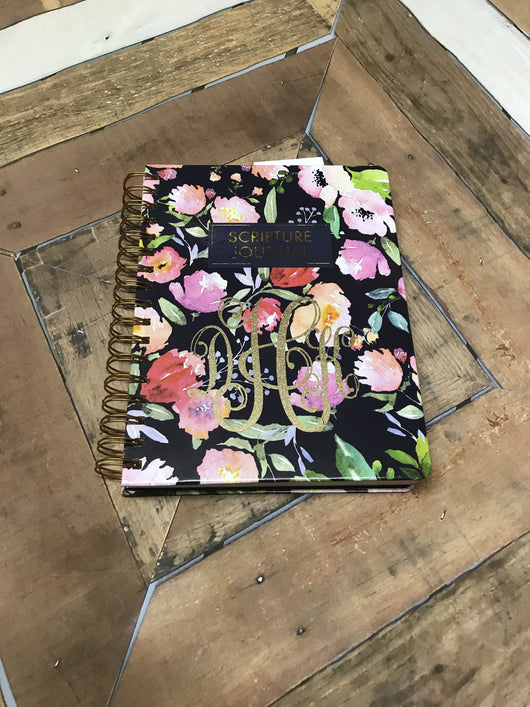 Monogrammed Scripture Journal