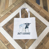 Humorous Animal Saying Tote Bag