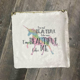 Beautiful Like Me Mermaid Pillow Cover