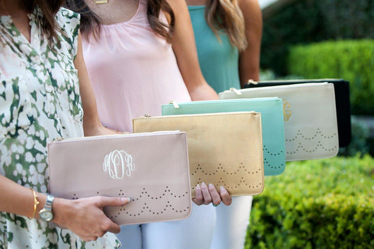 Monogrammed Ava Clutch