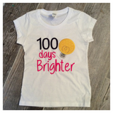 100 Days Brighter Embroidered Tee