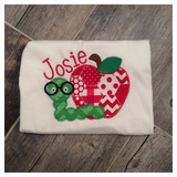 Apple and Smart Worm Personalized Tee