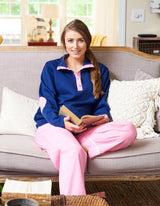 Monogrammed Gingham Lounge Pants