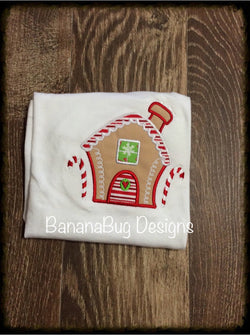 Personalized Ginger Bread House Applique