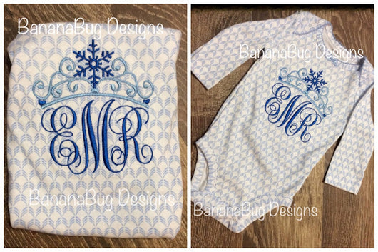 Snow Crown Monogram