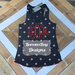 Star Tank with Large Monogram