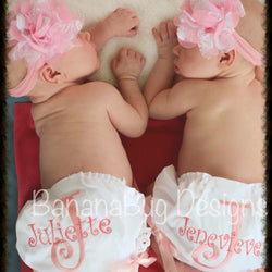 Monogrammed Lace Ruffle Bloomers