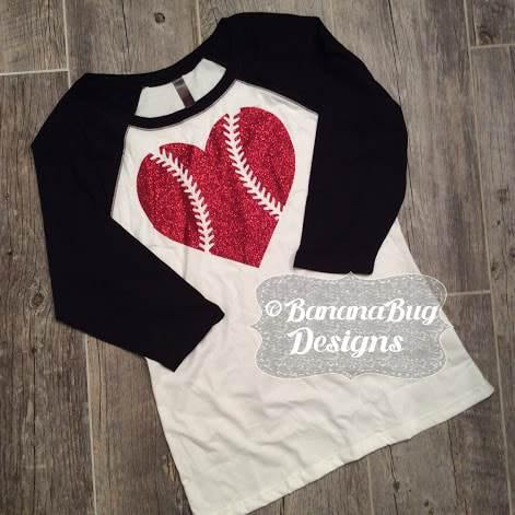 Baseball Heart Raglan