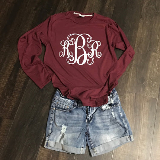 Monogrammed Long sleeve tee