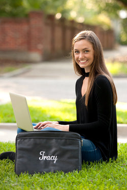 Monogrammed Laptop Sleeve