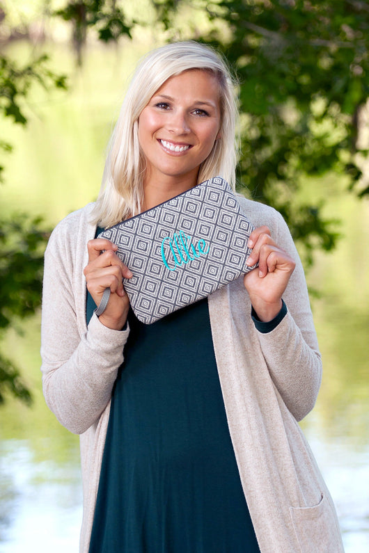 Monogrammed Everly Wristlet