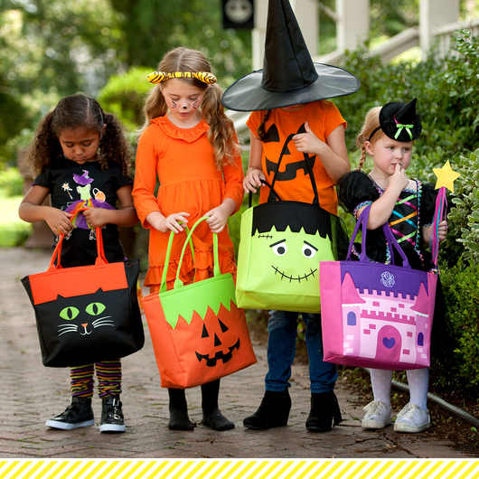 Monogrammed Halloween Character Tote