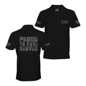 Black Limited Edition Proud to Have Served Polo Shirt