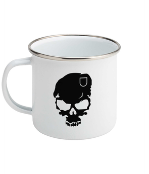 Final RV Enamel Skull Mug
