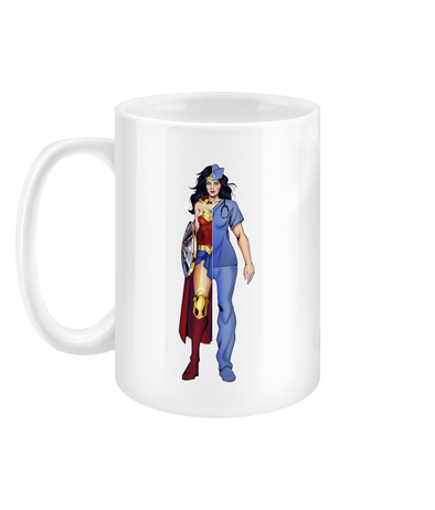 Nurse Wonder Women 15oz Mug