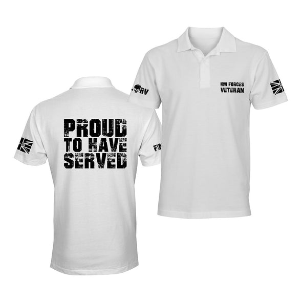 Limited Edition Proud To Have Served White Polo